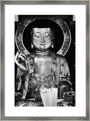 Burning Incense In A Buddhist Temple Sha Tin Hong Kong China Framed Print by Joe Fox