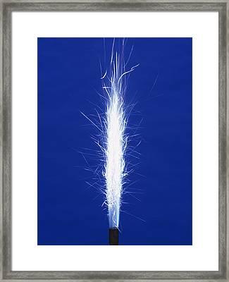 Burning Magnesium Framed Print by Andrew Lambert Photography