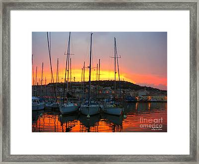 Burning Sky Framed Print by Rogerio Mariani