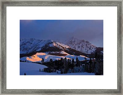 Burning Snow Framed Print by Jim Neumann