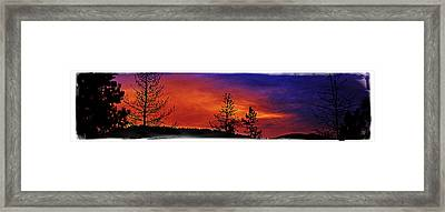 Framed Print featuring the photograph Burning Sunrise by Janie Johnson