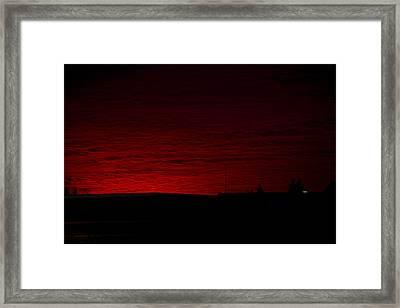 Burning Sunset Framed Print by Julie Smith