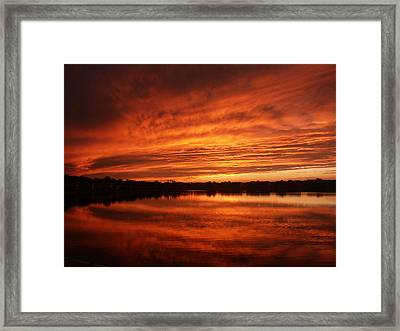 Burning Water Framed Print