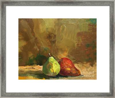 Burnished Pears Framed Print by Ruth Stromswold