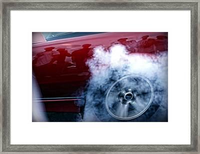 Burnout Framed Print