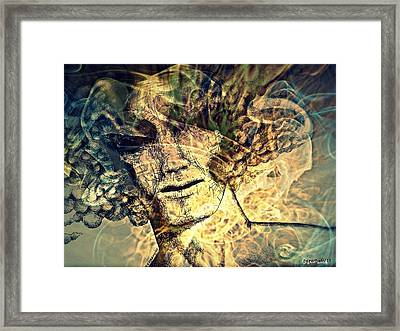 Burnout Syndrome Of The Resign Yourself Framed Print