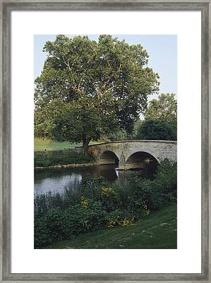 Burnside Bridge Spans Antietam Creek Framed Print