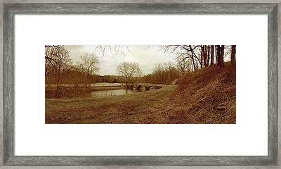 Burnside's Bridge Framed Print by Jan W Faul