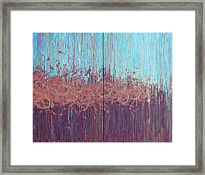 Burnt Fog Framed Print by Kate Tesch