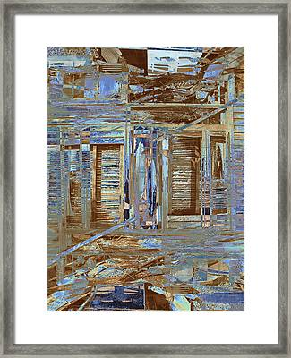 Burnt House Framed Print by Michele Caporaso