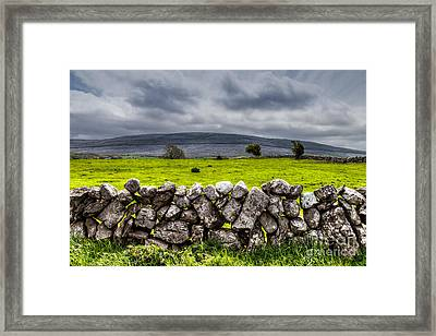 Framed Print featuring the photograph Burren Stones by Juergen Klust