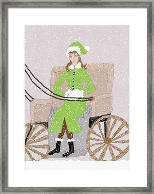 Burrrrrr Framed Print by Rosalie Scanlon