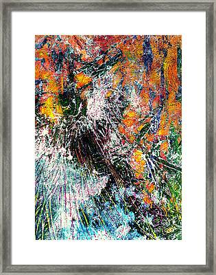 Burst In Orange Framed Print