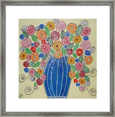 Burst Of Flowers Framed Print by Elizabeth Langreiter