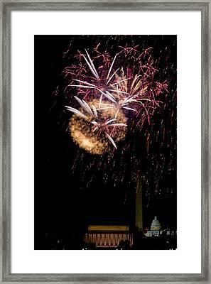 Bursts Over Washington Framed Print by David Hahn