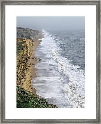 Burton Bradstock Cliffs Framed Print