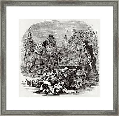 Burying The Dead After John Browns Framed Print by Photo Researchers