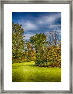 Busch Wildlife Swampy Autumn Framed Print by Bill Tiepelman