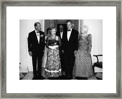 Bush Sr. Presidency. Duke Of Edinburgh Framed Print by Everett