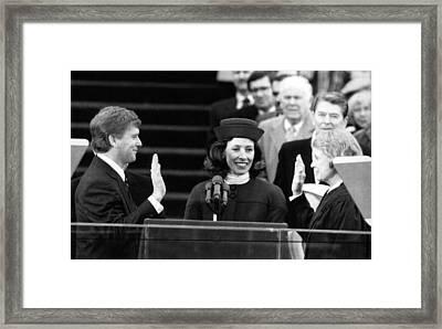 Bush Sr. Presidency. From Left Us Vice Framed Print by Everett