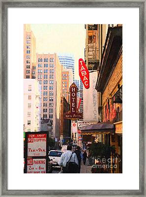 Bush Street In San Francisco Framed Print by Wingsdomain Art and Photography