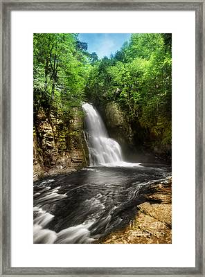 Bushkill Waterfalls Framed Print by Yhun Suarez