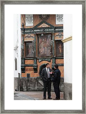 Framed Print featuring the photograph Business And Blessings by Lorraine Devon Wilke