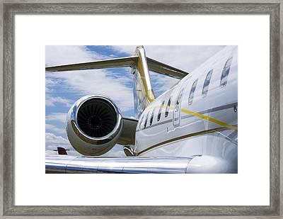 Business Jet Framed Print by Mark Williamson