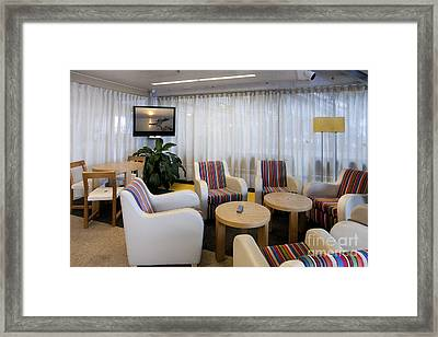 Business Lounge At An Airport Framed Print