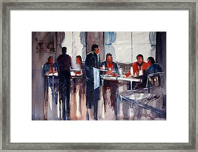 Business Lunch Framed Print