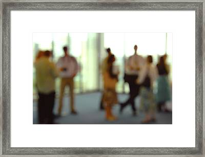 Business People Framed Print by Johnny Greig
