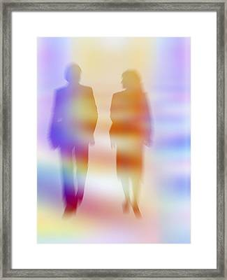 Business People Talking Framed Print by Pasieka