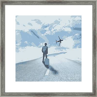Business Way Framed Print by Adchariya Chanpipat