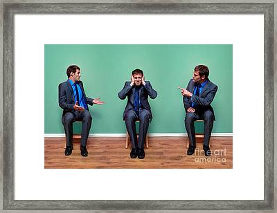 Businessman Argument Framed Print by Richard Thomas