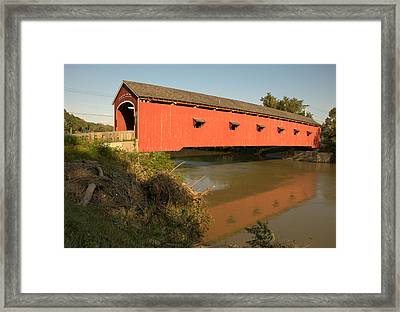 Framed Print featuring the photograph Buskirk Covered Bridge by Steven Richman