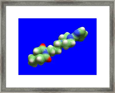 Buspirone Anti-anxiety Drug Molecule Framed Print by Dr Tim Evans
