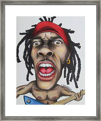 Busta Guitar Framed Print by Eric McGreevy