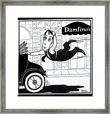 Buster Keaton Cops Framed Print by Mel Thompson