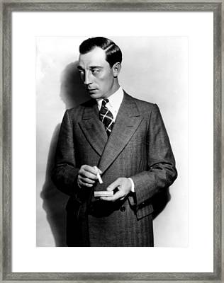 Buster Keaton, Mgm, 1929 Framed Print by Everett