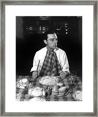 Buster Keaton, Mgm, 1933, Photo Framed Print