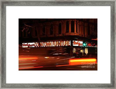 Bustle Framed Print