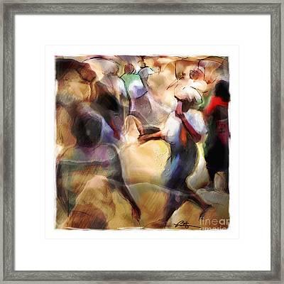 Busy Corner Framed Print by Bob Salo