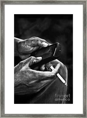 Busy Hands Framed Print by Charuhas Images