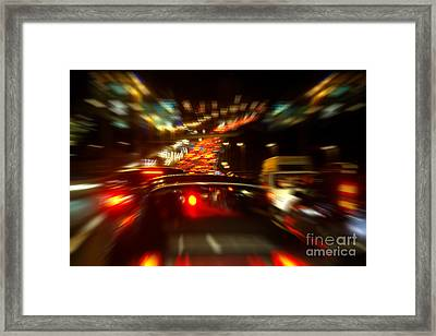 Busy Highway Framed Print by Carlos Caetano