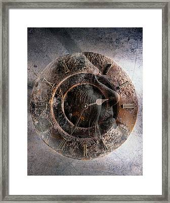 ...but How About Time Framed Print by Gun Legler