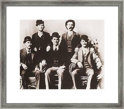 Butch Cassidys Wild Bunch Gang Of Train Framed Print by Everett