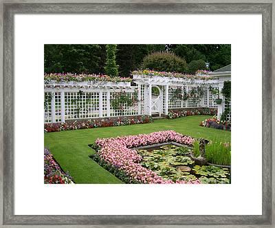 Butchart Garden Framed Print by Claude McCoy