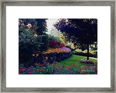 Butchart Gardens Shade And Sun Framed Print