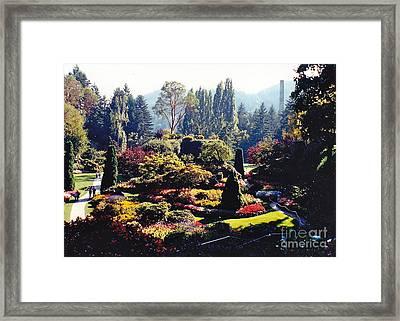 Butchart Gardens Splendor Framed Print