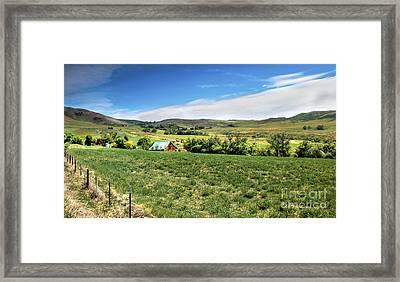 Butte Ranch Framed Print by Robert Bales